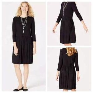 J. Jill Dresses - J. Jill knit drawstring dress w pleat skirt, NWT